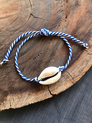Bracelet caurie corde marine