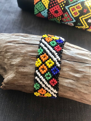 Bracelet carrés multicolor //blanc
