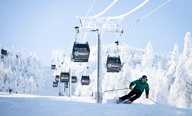 Killington_Gondola Skier by Chandler Bur