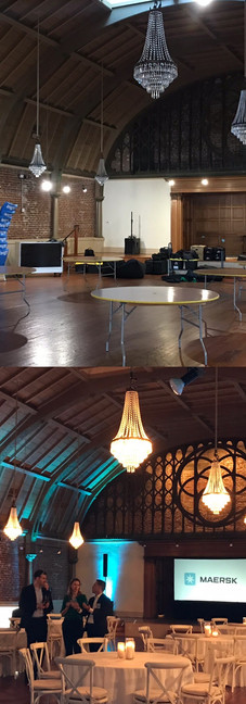 Before and after at the Loft on Pine for Maersk