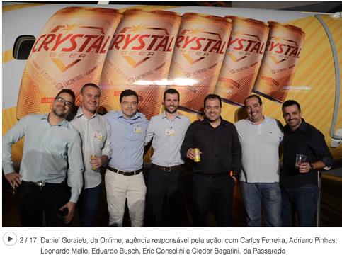 Evento parceria Passaredo/Crystal repercute na mídia