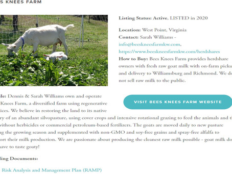 The farm is now RAWMI listed!