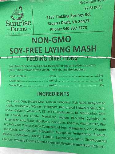 Non-soy Layer Chicken Feed,50 lb