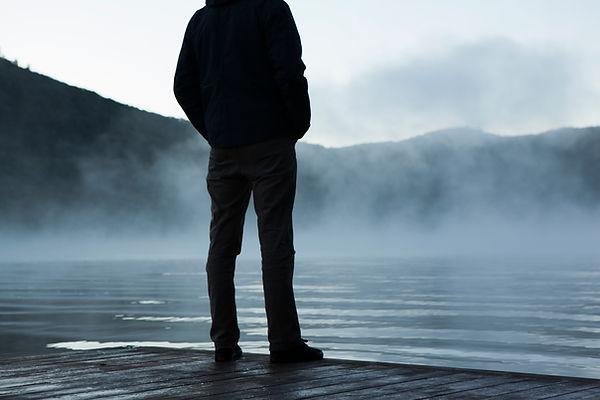 Man sucht auf Nebel