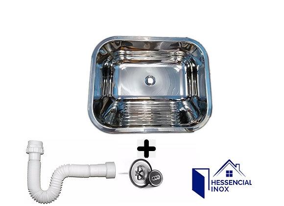 Tanque inox 304 medidas 50x40x22cm C/ 27 litros C/válvula e sifão grátis