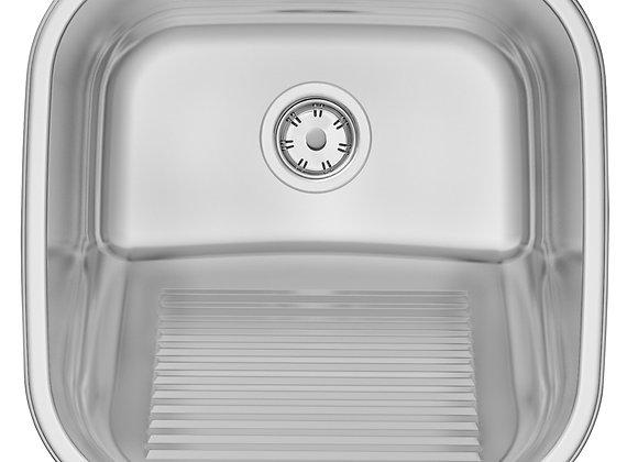 Tanque de Encaixe Tramontina Hera 23 L em Aço Inox Polido 40x40 cm