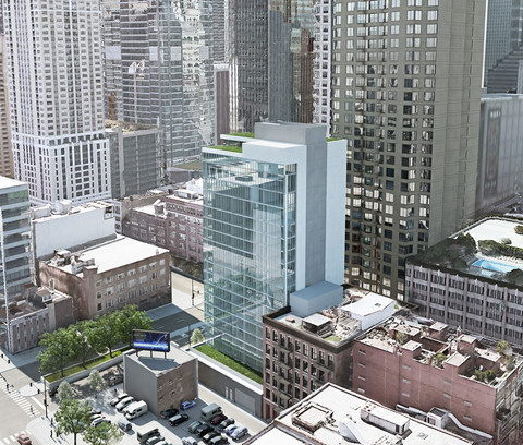 Proposed Hotel at LaSalle & Hubbard Shown to River North Neighbors