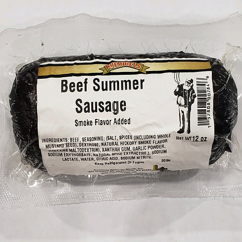 Beef Summer Sausage-Mild (12 Oz.)-Refrigerated