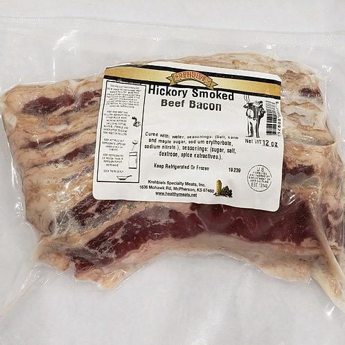 Hickory Smoked Beef Bacon