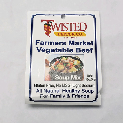 Twisted Pepper Co. Farmers Market Vegetable Beef Soup Mix