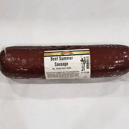 Beef Summer Sausage-Hot (2 lbs.)