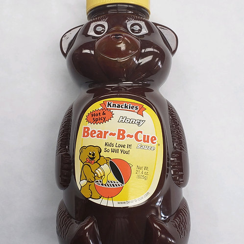 Knackies Hot & Spicy Honey Bear-B-Cue Sauce