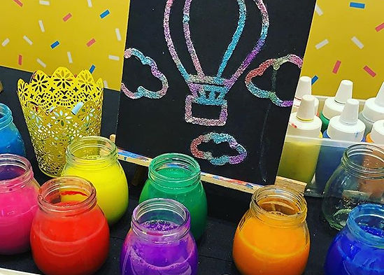 Our SALT PAINTING activity for Easter at