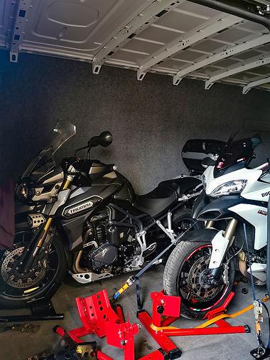 Triumph and Ducati multi in transit.jpg