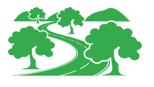 Country road Bright green illustration.p
