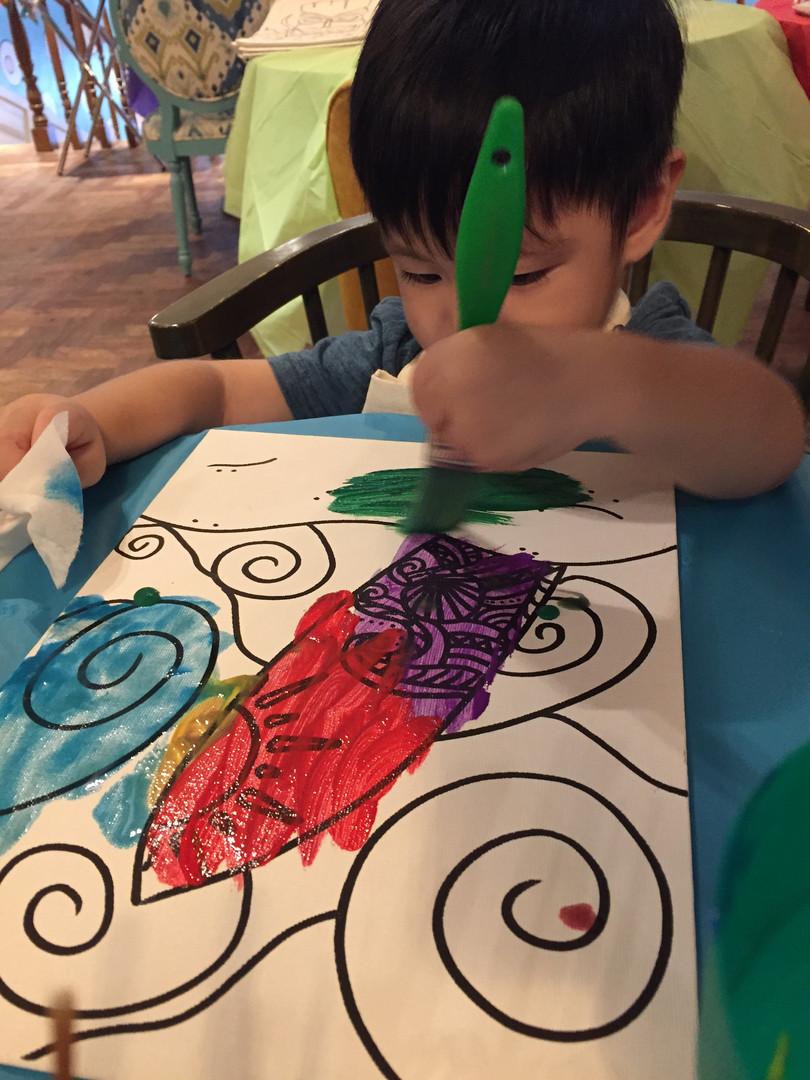 Hawaiian Luau Art Party