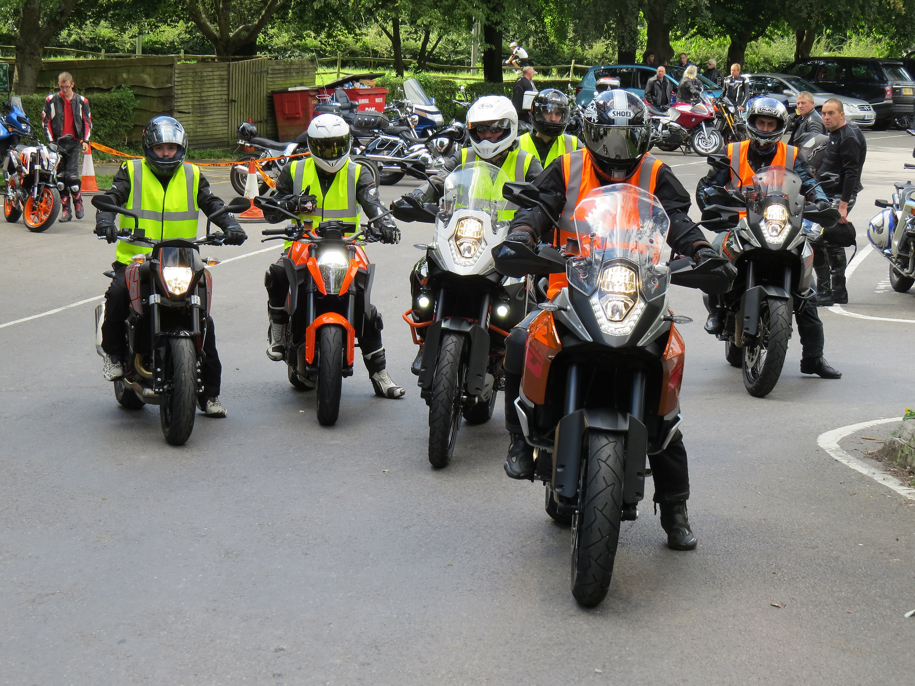 Motorcycle test ride group