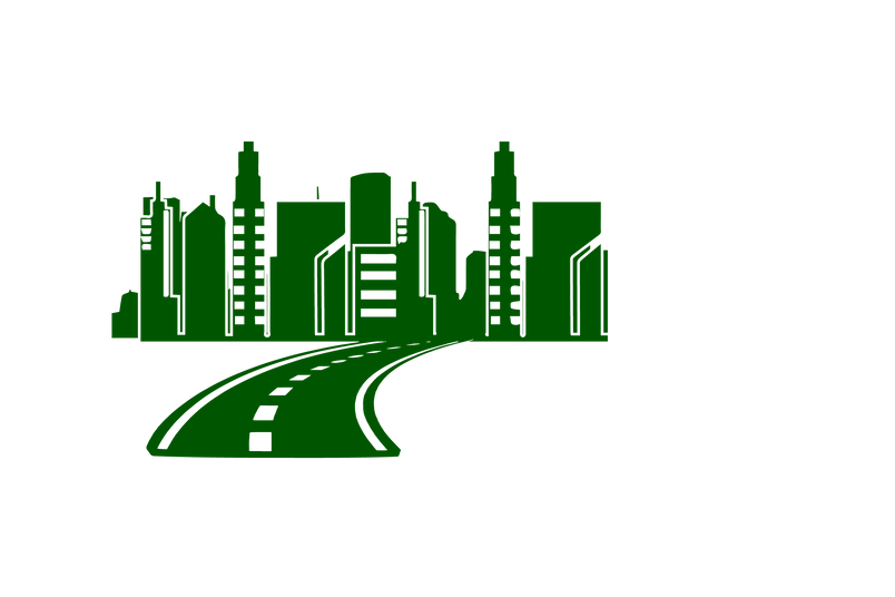City scape with road Green.png