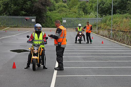Motorcycle instructors with learner riders