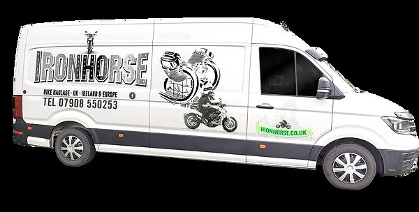 Side of van with branding guzzi brighter