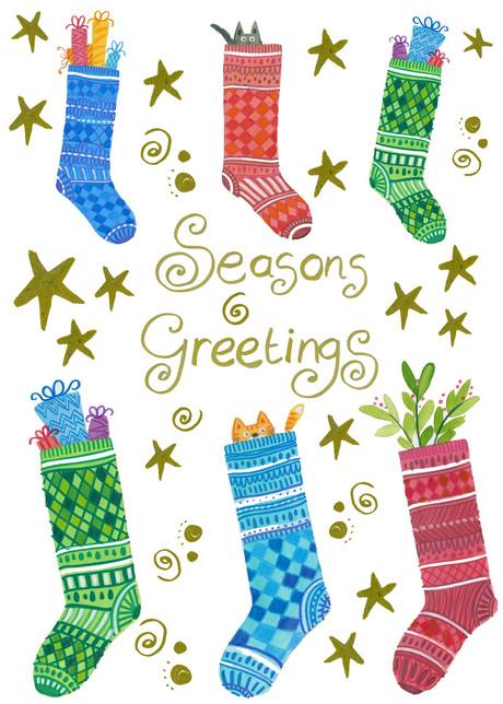 Christmas Stockings- Kay Widdowson