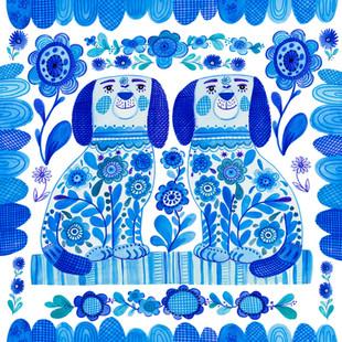 Staffordshire Dogs - Kay Widdowson