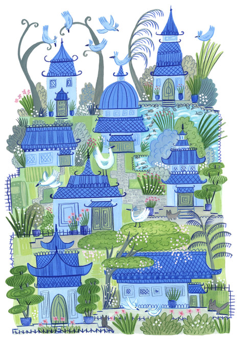 Willow houses village - Kay Widdowson
