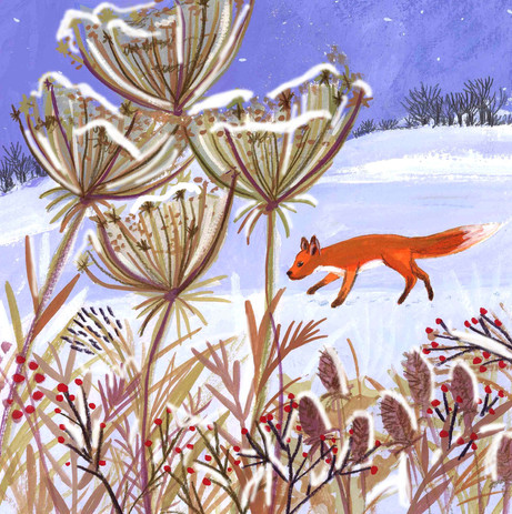 Winter Night Fox- Kay Widdowson