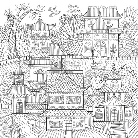 Chinese Houses- Kay Widdowson