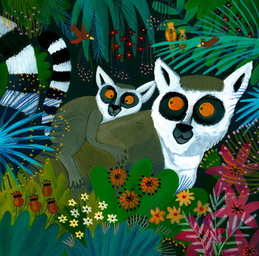 Lemur and baby - Kay Widdowson