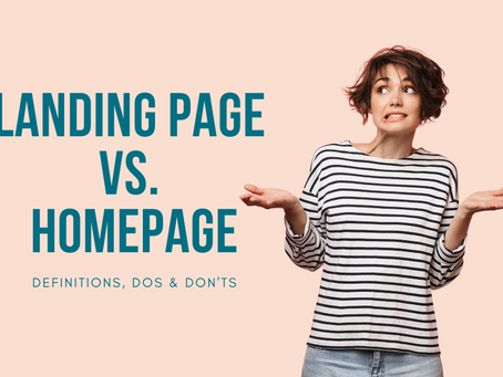 What's difference between a Landing page & a Homepage?