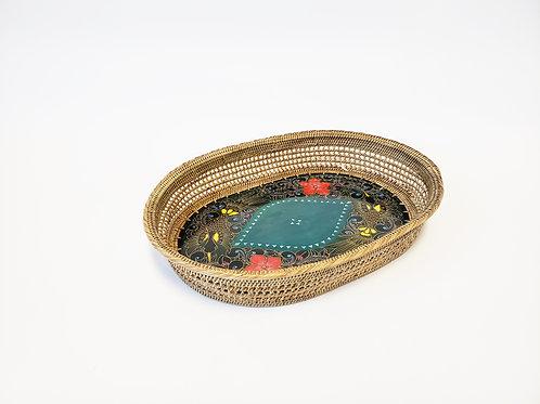Mali Oval Tray Batik