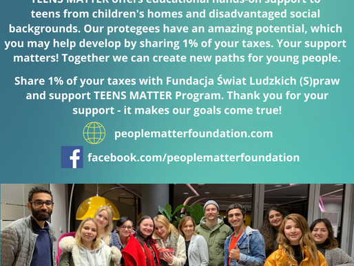 Share 1% of your taxes with the Teens Matter Program