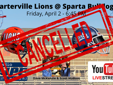 No Game For the Lions - Sparta Game Cancelled