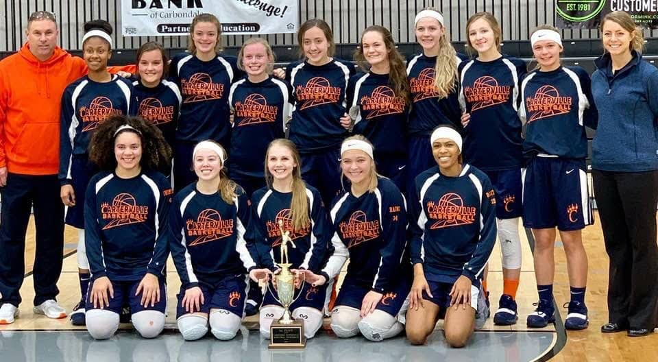 Image result for Carterville Lady Lions 2018-19 basketball team