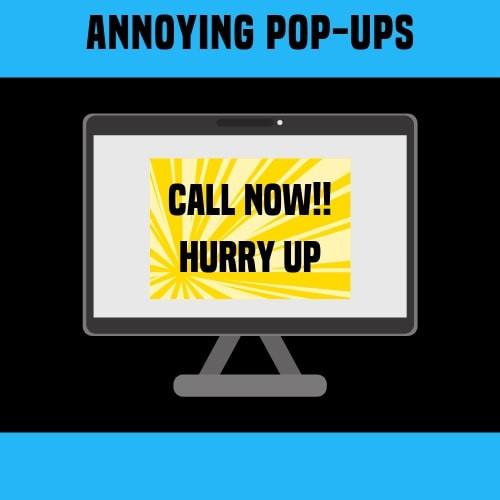 avoid website pop ups