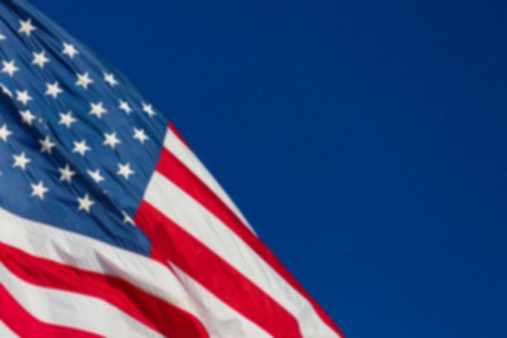 american flag blue sky