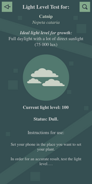 Light level test (Cloudy day time) Interface