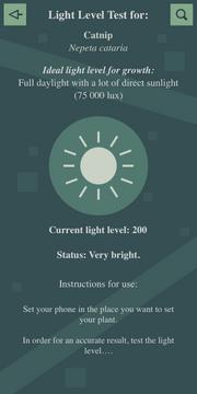 Light level test (Very sunny) Interface