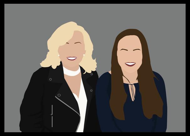 Mum and Daughter Illustration