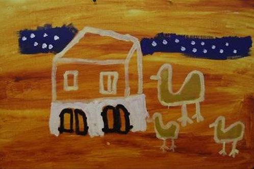 Painting: 'Gunduy Visiting Home'