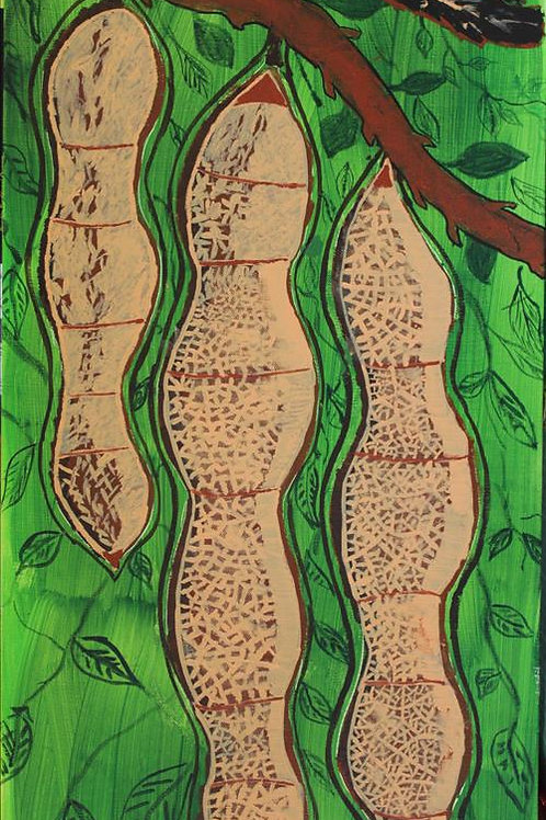 Painting: 'Rainforest Seed Pods'