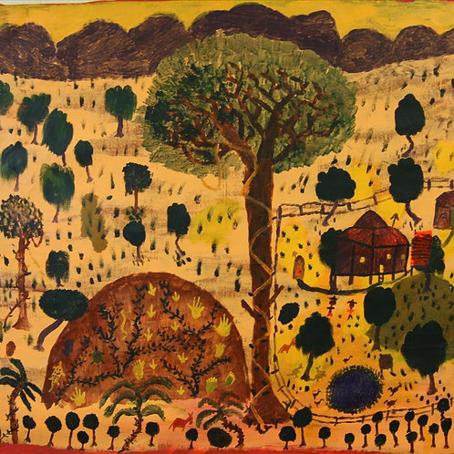 Painting: 'Homestead With Tree'
