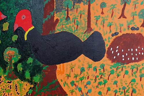 Painting: 'Bush Turkeys'