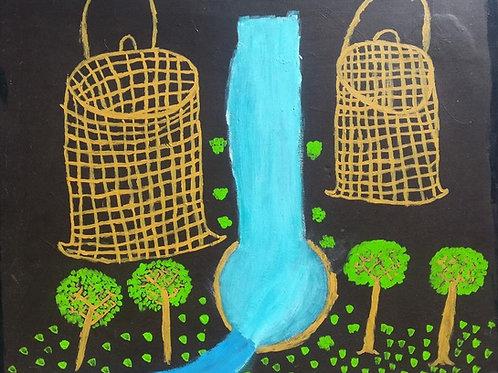 Painting: 'Bunday Bunday, Davidson Falls Story'