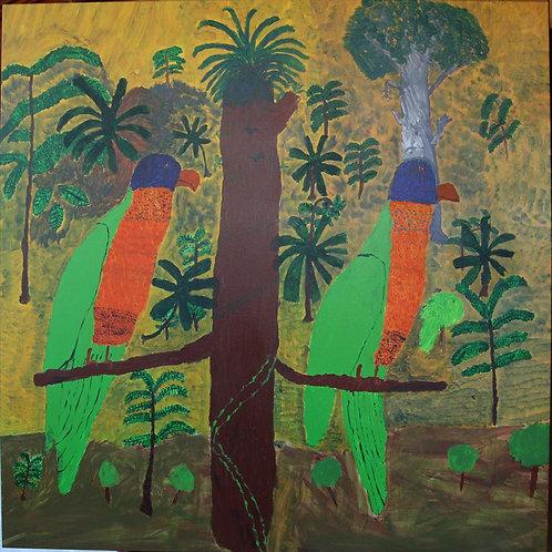 Painting: 'Parrots'