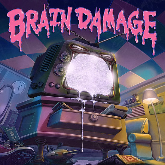 Airplane Man - Brain Damage Artwork (300