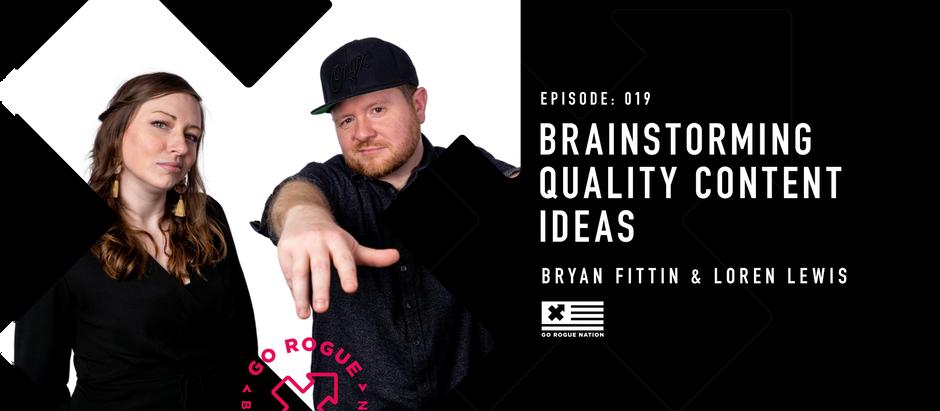 Brainstorming Quality Content Ideas