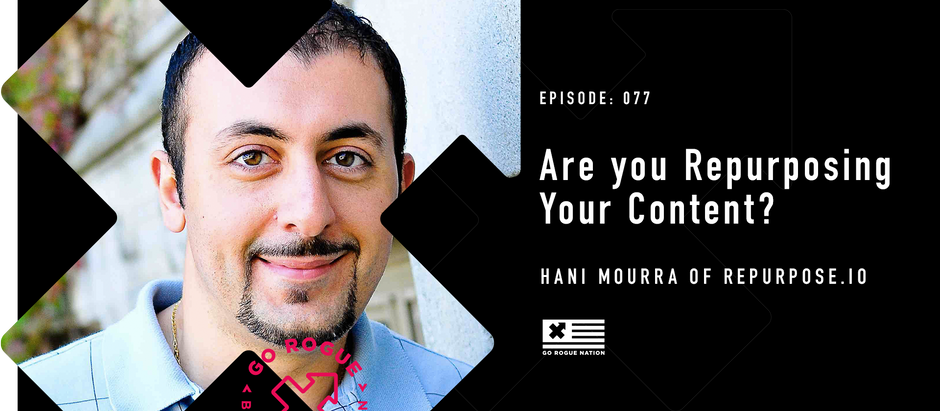 Are you Repurposing Your Content? - with Hani Mourra of Repurpose.io