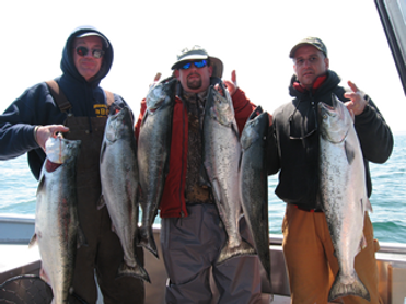 Salmon charters on Lake Ontario